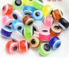 50/100pcs  Acrylic eye beads round beads colorful beads scattered beads 6--12mm