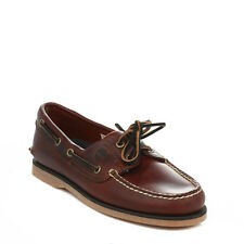 Timberland Mens Boat Shoes Brown Rootbeer Leather Lace Up Casual Vintage Classic