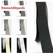 "Wholesale 100 Yards Best YAMA Grosgrain Ribbon 3/8""/ 9mm white Grey BLack"
