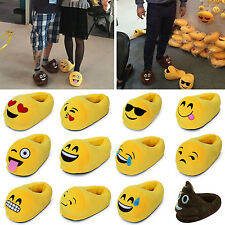 Funny Men Women Emoji Minion 3D Plush Soft Slippers Winter Warm Antiskid Shoes