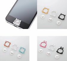 ELECOM 3 Pieces for iPhone Home Button Sticker Input Animal 3 Type Bear New JP
