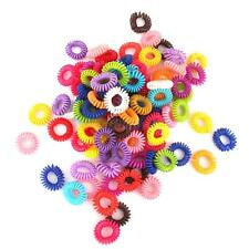 100 Girls Plastic Elastic Hairband Phone Wire Hair Tie Ring Rope Band Ponytail