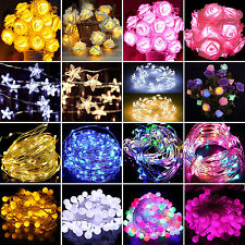 LED Battery Operated Wedding Garden Lights Fairy Lighting String Party Bulbs