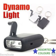Dynamo Powered Emergency Light 2-LED Camping Survival Torch Prepper Flashlight