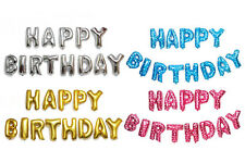 """13 pcs Foil Balloons Letter Combinations """" HAPPY BIRTHDAY """" Birthday Party Decor"""