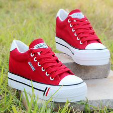 Women girl Comfort Flat Slip On Casual Sneaker Canvas Flats lacing New Shoes G33