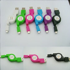 Hot Mini Retractable Micro USB Data Sync Cable Charger For Samsung HTC Android