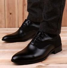 Mens Oxford British lace up black Formal Casual  leather Dress Shoes New oxford