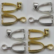 NEW 20PCS Wholesale Mixed & Silver/Gold Plated Pendant Pinch Clip Bail Connector