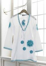Mud Pie Embroidered Paisley Tunic / Beach Bathing Suit Cover-Up