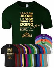 LEAVE ME ALONE I KNOW WHAT I'M DOING Mens TShirt LOTUS KIMI RAIKKONEN Race