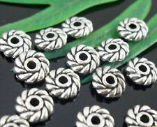 wholesale 130/430Pcs Silver Plated  Spacer Beads 6x2mm (Lead-Free)