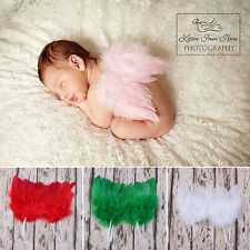 Top Newborn Baby Kids Feather Angel Wings Photo Props Costume Dress 4 Colors
