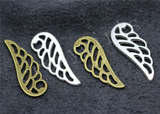 15/60/300pcs Tibetan Silver Beautiful Wings Jewelry Charms Pendant DIY 25x9mm