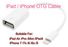 USB2.0 Female OTG Adapter Cable Camera Connection Kit for iPad iPhone iPod Touch