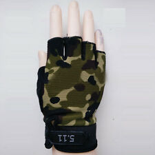 Camo Cycling Bicycle Sports Half Finger Gloves Military Tactical Hunting Gloves