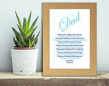 Personalised Father of the Bride Gift Dad Birthday Gift Dad Wedding Poem OAK