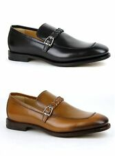 $840 New Gucci Mens Leather Loafer Dress Shoes w/Braided Strap 337038