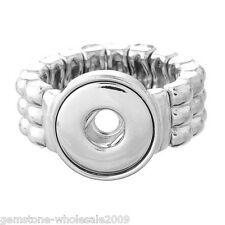 Wholesale Lots Stretch Adjustable Ring Fit Mini Snap Button Glaze size 6