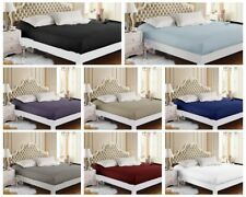 1500TC 100% Egyptian Cotton Collection 40cm Deep Wall Fitted Sheet - 8 Colours