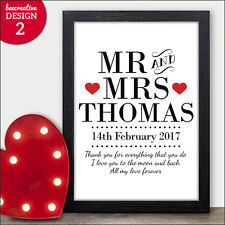 Mr & Mrs PERSONALISED Valentines Day Gifts - Presents Cards for Him Her