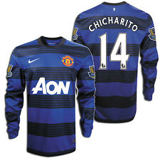 NIKE CHICHARITO MANCHESTER UNITED LONG SLEEVE AWAY JERSEY 2011/12