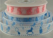 BABY GIRL RIBBON BABY BOY RIBBON 15MM WIDE 5 MTR,10 MTR AND 20 MTR FULL ROLL