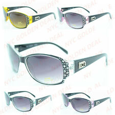 Women DG Eyewear Rectangular Rhinestones Sunglasses Designer Shades Fashion 398