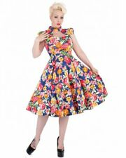 RKH91 Hearts and Roses H&R Tropical Floral 50s Vintage Pinup Swing Party Dress