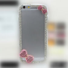 Luxury 3D Bling Rhinestone Diamond Hard Case Cover for Apple iPhone (Red Tie)