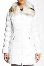 $300 NEW Laundry By Shelli Segal Faux Fur Trim Puffer Jacket Size Small