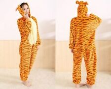 Unisex Adult Pajamas Kigurumi Cosplay Costume Animal Onesie Sleepwear Tigger