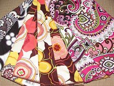 NWT Vera Bradley VERY BERRY PAISLEY, BUTTERCUP + Table Cotton Square NAPKINS