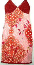 Roxy Life Quiksilver Red/Pink Summer / Beach Dress Sizes:10,12  RRP £62 (C7BA