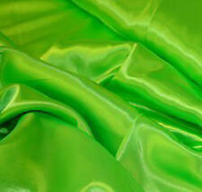 GORGEOUS NEON GREEN SILKY SATIN FABRIC MATERIAL WEDDING DRESS MAKING VENUE DECOR