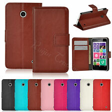 Premium Wallet Leather Stand Case Cover For Nokia Lumia 630 635 Microsoft 1520