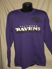NFL Baltimore Ravens Football Long Sleeve Logo Tee Shirt Mens Sizes Majestic New