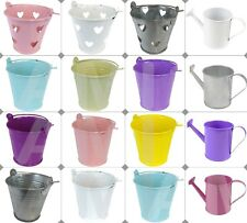 METAL MINI COLOURED WEDDING FAVOUR PAILS BUCKET PARTY CHRISTENING TABLE DECOR
