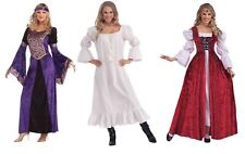 Renaissance Maiden Medieval Fancy Dress Costume Tudor Queen Adult Ladies