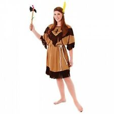 Ladies Native Indian Fancy Dress Costume Adult Outfit Hen Night 10 - Plus Size