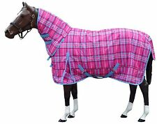 Mawson Horse Turn Out Combo  Stylish  Winter Rug  In Pink Check ON SALE..!!! NEW