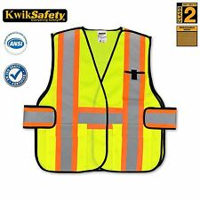 Class 2 High Quality Reflective Strips Breakaway ANSI Reflective Safety Vest