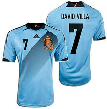 ADIDAS DAVID VILLA SPAIN UEFA EUROCUP 2012 AWAY JERSEY.