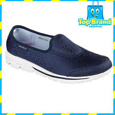 Skechers 13820 Go Walk Womens Casuals slip on shoes - ALL SIZES UNTAMED NAVY