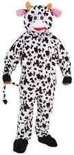 Mascot Cow Farm Animal Spotted Fancy Dress Up Halloween Deluxe Adult Costume