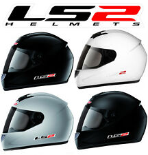 HELMET INTEGRAL MOTO LS2 FF350.1 SINGLE MONO BLACK GRAY MATT WHITE BRIGHT NEW