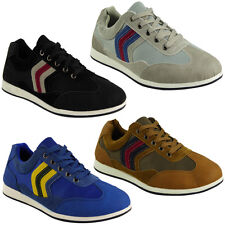 MENS RUNNING TRAINERS LACE UP SPORTS CASUAL SKATES PLIMSOLLS PUMPS SHOES SIZE