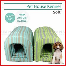 Pet Dog House Kennel Soft Igloo Beds Cave Cat Puppy Bed Doggy Warm Cushion