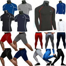 Mens Thermal Compression Under Skins Tights Fitness Base Layer Top Shirts Pants