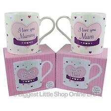 NEW Fine China I LOVE YOU Mum or Mummy MUG/CUP by Leonardo Gift Box Mothers Day
